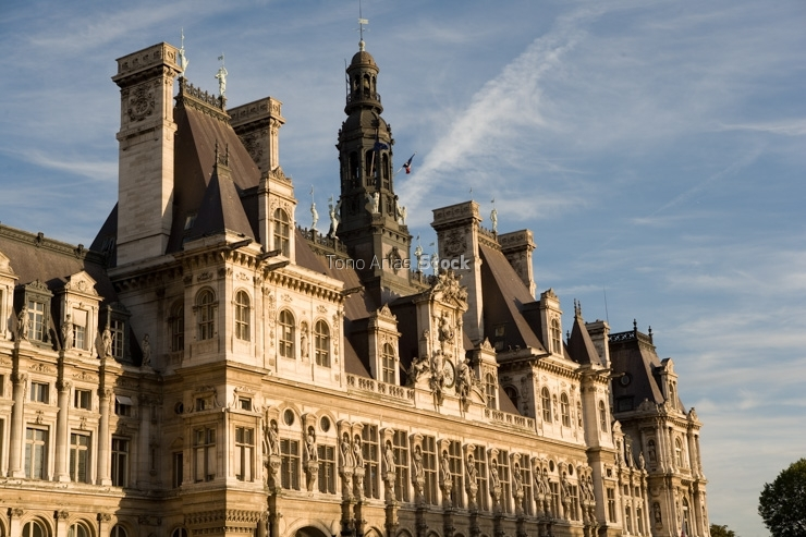 Facade of a building, Hotel De Ville, Paris, France