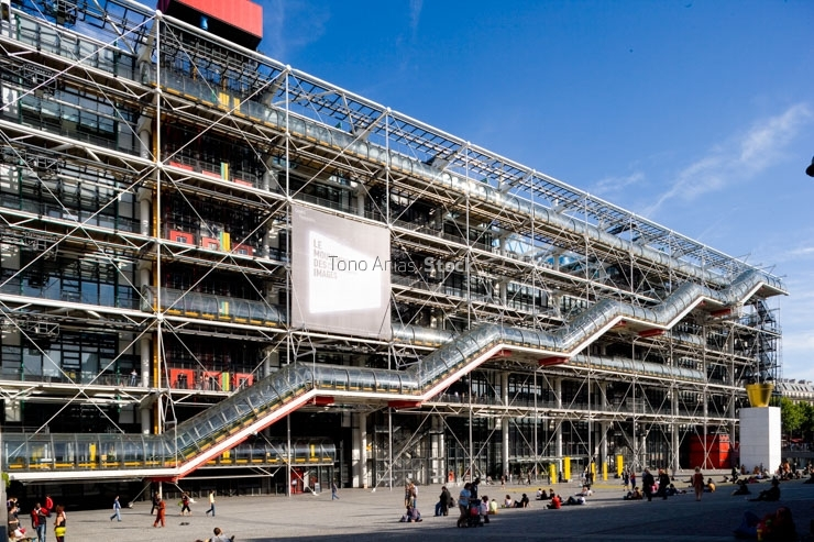 Museo Pompidou.Museo Pompidou Paris Tono Arias Stock